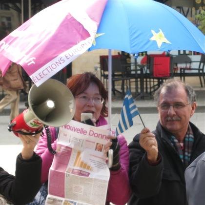 Rassemblement de soutien au peuple grec