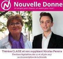Nouvelle Donne dans la 1<sup>re</sup> circonscription de la Gironde