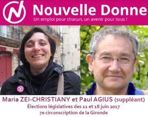 Nouvelle Donne dans la 7<sup>e</sup> circonscription de la Gironde